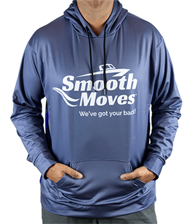 Smooth Moves Blue Hooded Sweatshirt | Smooth Moves Boat Seats