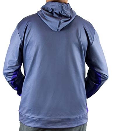 Blue Hooded Sweatshirt - Back | Smooth Moves Boat Seats