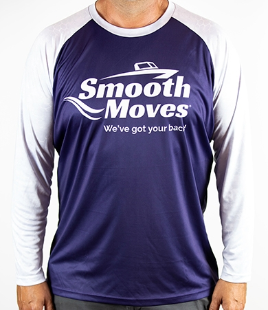 Smooth Moves | Long Sleeve Raglan Tee for Boaters and Fisherman