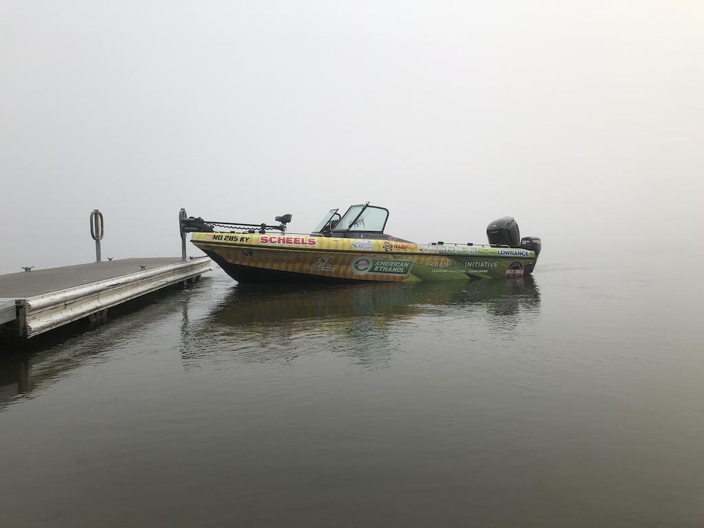 JR launching a boat alone.