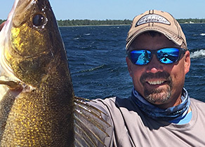 Brett King holding a fish