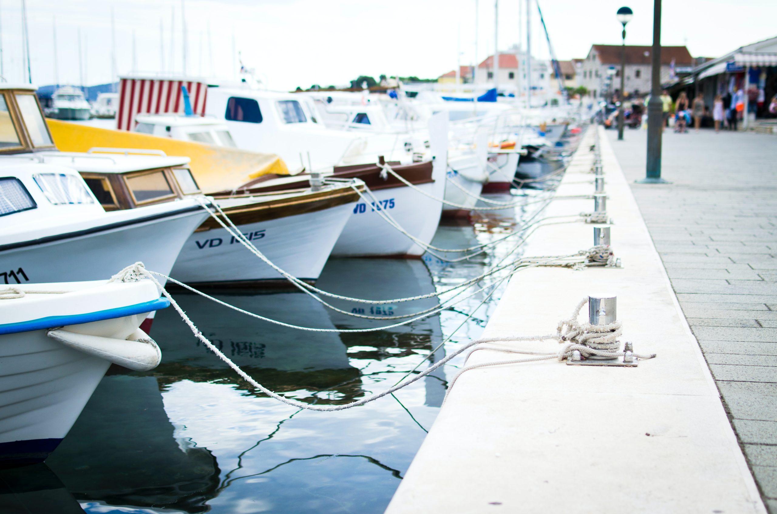 Marina full of boats.